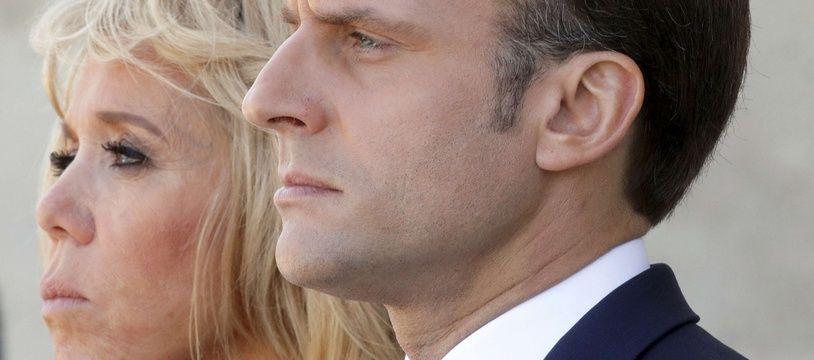 Brigitte et Emmanuel Macron (illustration)