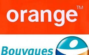 Photo montage des logos de Bouygues Telecom et de Orange