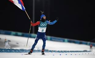 Martin Fourcade a remporté la poursuite des JO de Pyeongchang, le 12 février 2018.