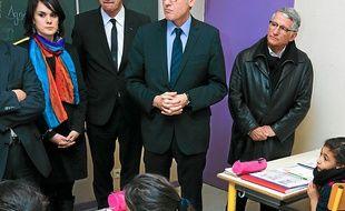 Vincent Peillon a visité l'école Victor-Hugo à Bellefontaine.
