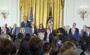Le président Obama a remis des médailles de la liberté à 21 personnes, le 22 novembre 2016.