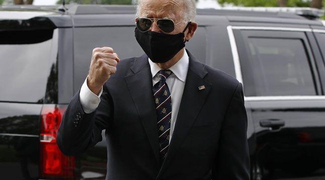 Trump traité « d'idiot » par Biden pour s'être moqué de son masque