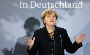 La chancellière allemande Angela Merkel à Berlin, le 7 décembre 2015. AP Photo/Michael Sohn.