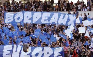 Les supporteurs girondins au stade Chaban-Delmas lors du match de Ligue Europa contre Bruges le jeudi 20 septembre 2012.