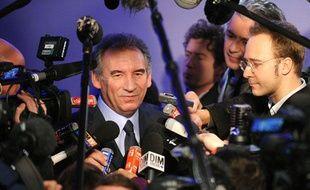 François Bayrou lors de ses voeux de nouvelle année, le 3 janvier 2012.