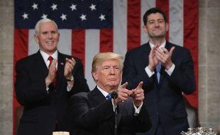 Donald Trump lors du discours sur l'état de l'Union, le 30 janvier 2018.
