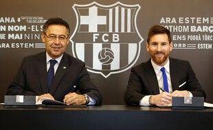Un joli sourire avec plein de zéro derrière pour Leo Messi.