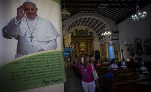 Dans une église de La Havane à Cuba le 7 septembre 2015.