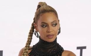 La chanteuse Beyoncé au Barclay Center de New York