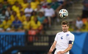 Le capitaine de l'Angleterre Steven Gerrard contre l'Italie, le 14 juin 2014, à Manaus.