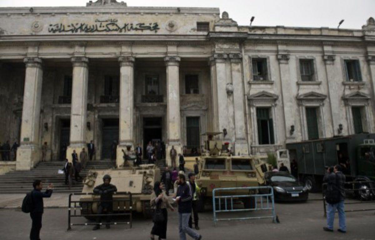 Le tribunal d'Alexandrie, en Égypte, le 3 mars 2014. – AFP PHOTO/KHALED DESOUKI
