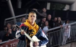 Le chanteur Justin Bieber lors du concert One Love Manchester