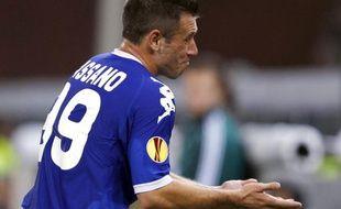 L'international italien de la Juventus, Antonio Cassano, lors d'un match de Ligue Europa, face à Debrecen, le 30 septembre 2010.