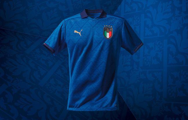 Le maillot domicile de l'Italie.