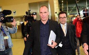 Le ministre grec des Finances Yanis Varoufakis à Bruxelles, le 5 mai 2015