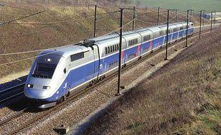 Illustration: Un TGV en circulation.