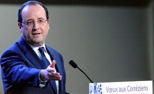 François Hollande à Tulle le 18 janvier 2014.