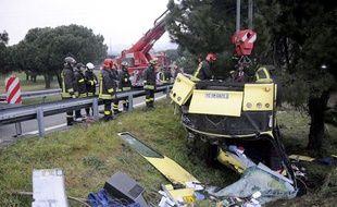 Trois Français sont morts dans l'accident d'un bus à Massa, en Italie le 14 février 2010.