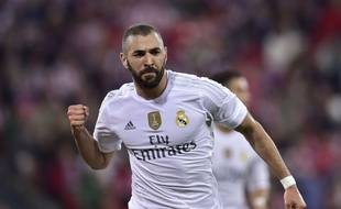 Karim Benzema lors du match entre le Real Madrid et l'Athletic Bilbao le 23 septembre 2015.