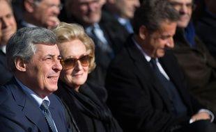 Nicolas Sarkozy, Bernadette Chirac et Henri Guaino le 12 mars 2016.