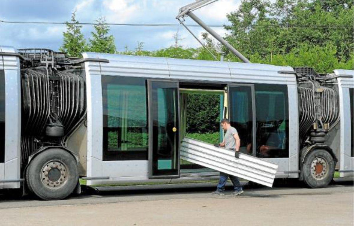 Les trams sur pneus fabriqués à Duppigheim seront estampillés Alstom. –  G.Varela / 20 minutes