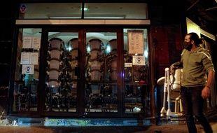 Un bar fermé (illustration)
