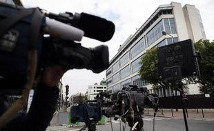 Vue extérieure en date du 1er juin 2014 des locaux de la Direction générale de la sécurité intérieure (DGSI) à Levallois-Perret.