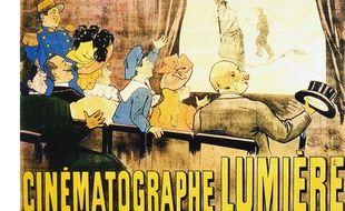 Publicité pour le Cinématographe des frères Lumière en 1996.