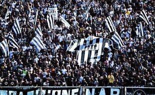 Des supporters de la Juventus Turin lors d'un match de Série A contre la Fiorentina, le 14 septembre 2019.