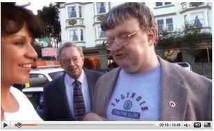 Capture d'écran d'une vidéo montrant Kim Peek, l'homme ayant inspiré le personnage de Rain man.