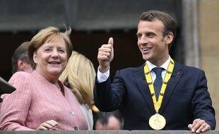 Emmanuel Macron s'est vu remettre le prix Charlemagne pour son engagement proeuropéen