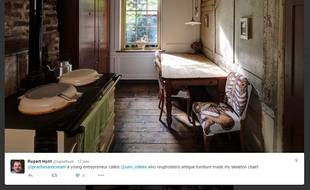 Capture d'écran de la cuisine de la maison de Rupert Hunt.
