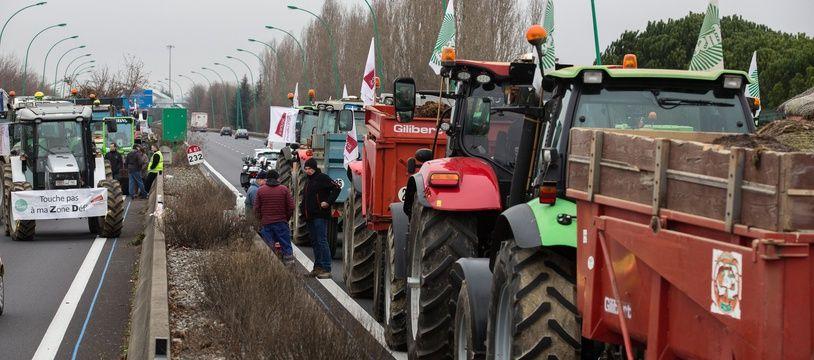 Les agriculteurs de la Région Occitanie avaient eux aussi paralysé la circulation sur le périphérique en réalisant des barrages filtrants, le 31 janvier 2018.