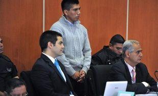 Gustavo Lasi, l'un des trois accusés du meurtre de deux Françaises en Argentine, à l'ouverture de son procès, le 25 mars 2014 à Salta