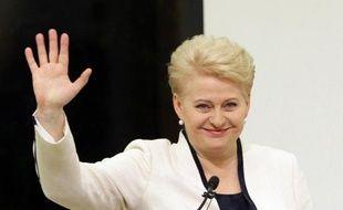 La présidente de Lituanie Dalia Grybauskaite lors de son élection, à Vilnius, le 25 mai 2014