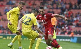 Zakarie Labidi n'a jusque-là pu se montrer avec l'OL que lors de matchs de préparation, comme ici en juillet dernier face à Villareal, lors de l'Emirates Cup.