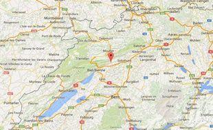 La ville de Grenchen, où un club de football suisse a viré ses onze titulaires.