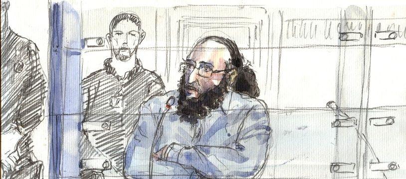 Abdelkader Merah devant la cour d'assises de Paris lors de son procès en octobre 2017.
