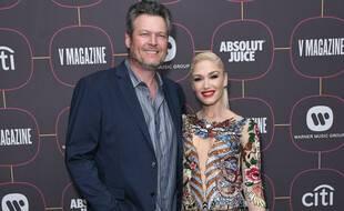 Les chanteurs et époux Blake Shelton et Gwen Stefani
