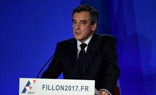 François Fillon a donné une conférence de presse à son QG parisien le 6 février 2017.