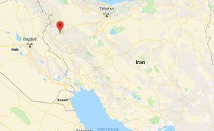 La province de Kermanshah (Iran).