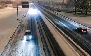Une autoroute près de Saint-Etienne dans la nuit du 14 au 15 novembre 2019.