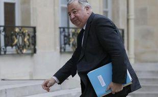 Gérard Larcher à son arrivée à l'Elysée le 18 février 2015