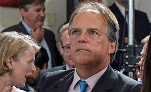 Le député conservateur Mark Field est accusé d'avoir agressé une militante de Greenpeace qui avait fait irruption dans un dîner de gala à Londres, le 20 juin 2019.