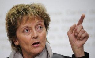 """La ministre suisse des Finances Eveline Widmer-Schlumpf a affirmé dans un entretien publié vendredi en Allemagne sa volonté de """"mettre fin"""" à l'accueil par les banques de son pays de fonds non déclarés."""