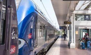 Un TER gare de Lyon Part-Dieu.