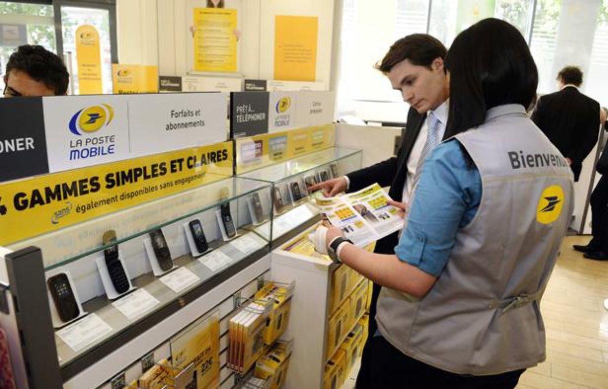 La Poste a lancé son offre mobile en mai 2011. – DURAND FLORENCE/SIPA