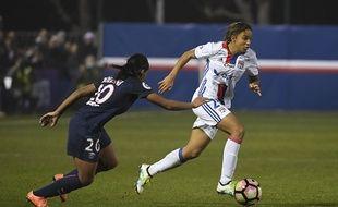 La Lyonnaise Delphine Cascarino, ici lors du choc face au PSG (0-1) le 17 décembre dernier.