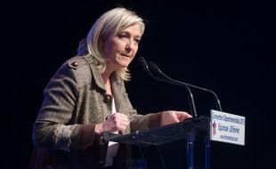 Marine Le Pen en meeting, le 28 février 2015.