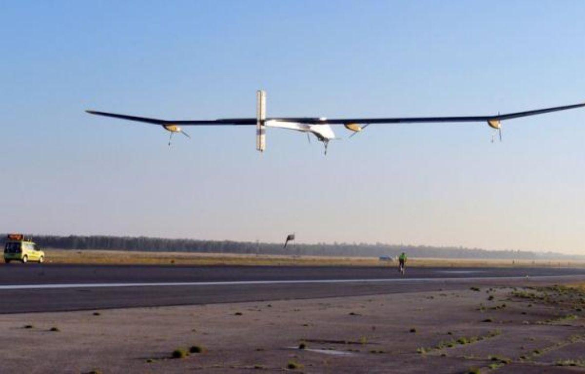 L'avion solaire expérimental Solar Impulse quittera vendredi matin Rabat pour Madrid, avant de retourner à son point de départ, la Suisse, a annoncé jeudi l'agence marocaine MAP. – Abdelhak Senna afp.com